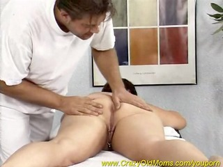 fat mama enjoys a massage