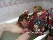 mama son having sex in washroom tub