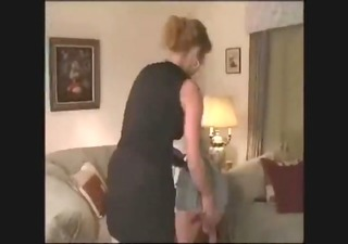 mommy gives her daughter a flogging for smokin pot