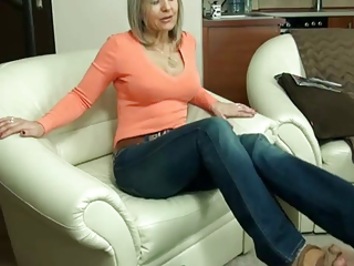 older nylon footjob 10