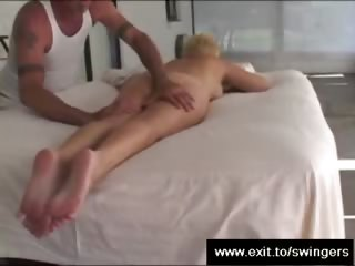 mommy tracy receives massage with muff diving end