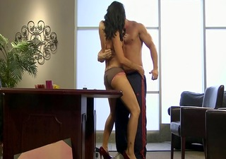 sexy cougar zoe holloway banging on desk