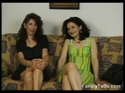 mother and daughter lesbian babes and three-some