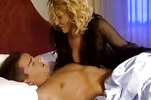 aged golden-haired slut bonks in darksome