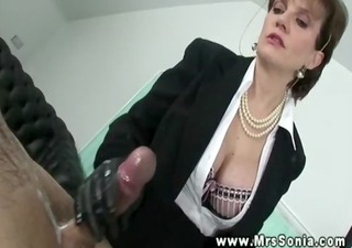 lady sonia gets a handfull from her sub of hard