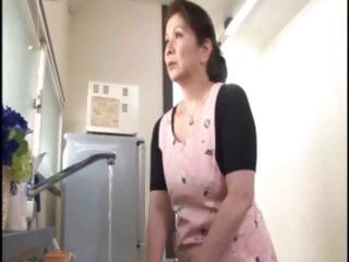 japanese aged housewife does an old dude and a