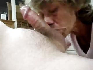 aged swallows his load